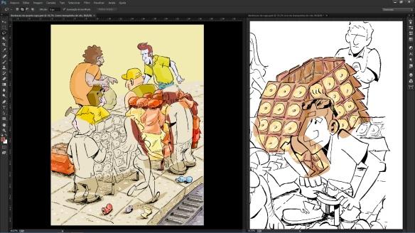 colorindo a capa 03