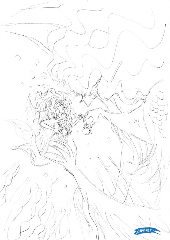 01 pequena sereia e bruxa do mar_esboço