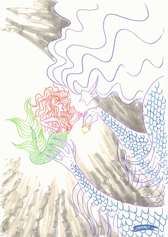 02 pequena sereia e bruxa do mar_traço 01
